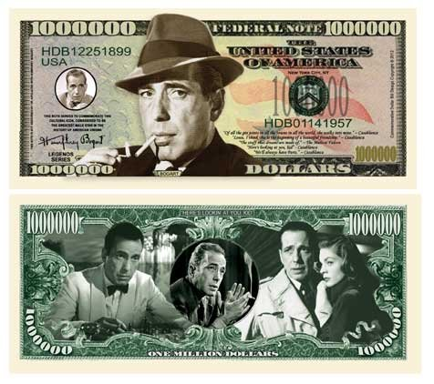 Set of 1000 - Humphrey Bogart Million Dollar Bill