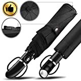 #9: OCEANA&SP Travel Compact  Golf Windproof Resitant Umbrella For One Handed Operation with Slip-Proof Handle