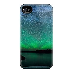 (eHC13400qIPB)durable Protection Case Cover For Apple Iphone 4/4S (green Space Burst)
