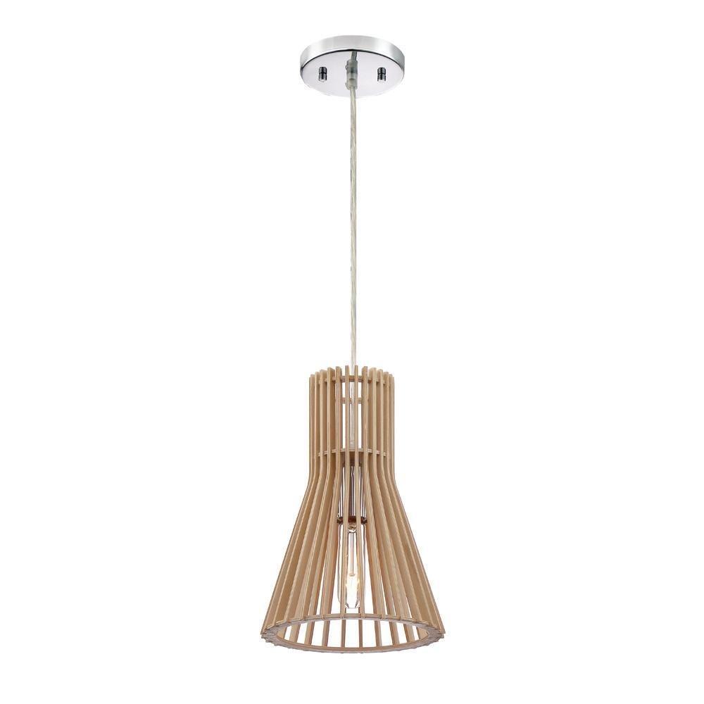 Designers Fountain 3541-317 Kahale 1-Light Kula Wood Hanging Pendant