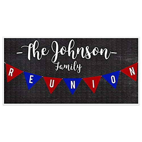 Flags Family Reunion Banner Personalized Backdrop Decoration]()