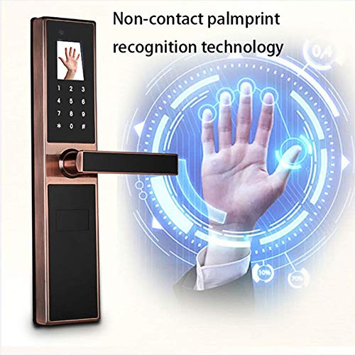 GAOPIN Combination Locks - Electronic Keyless Biometric Face, Palm-Print Recognition Smart Door Lock for Home and Apartment or Hotel etc, Red Copper,4 by GAOPIN (Image #3)