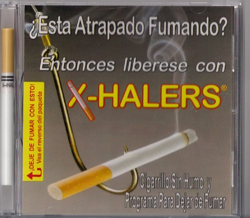 X-halers Smokeless Cigarette (Nicotine-free) and CD Stop Smoking Program in Spanish (En Espanol) - Electronic Cigarette Nicotine