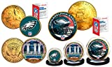 Super Bowl LII 52 NFL Champions PHILADELPHIA EAGLES 3-Coin Set * Philly Themed *