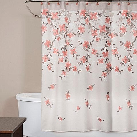 Coral Garden (Saturday Knight Coral Garden Shower Curtain 72