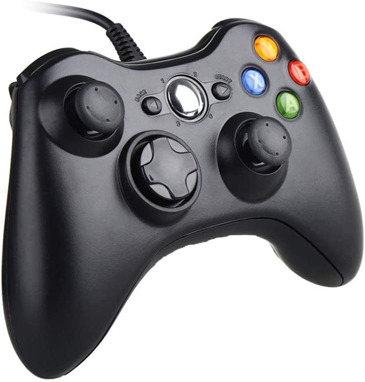 Xbox 360 Controller, 7.2 ft USB Wired Controller Gamepad Compatible with Microsoft Xbox 360 & PC Windows(Black): Computers & Accessories