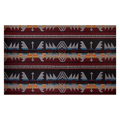 Telio Woodlands Wool Blend Coating Aztec Fabric, Grey Wine, Fabric By The Yard