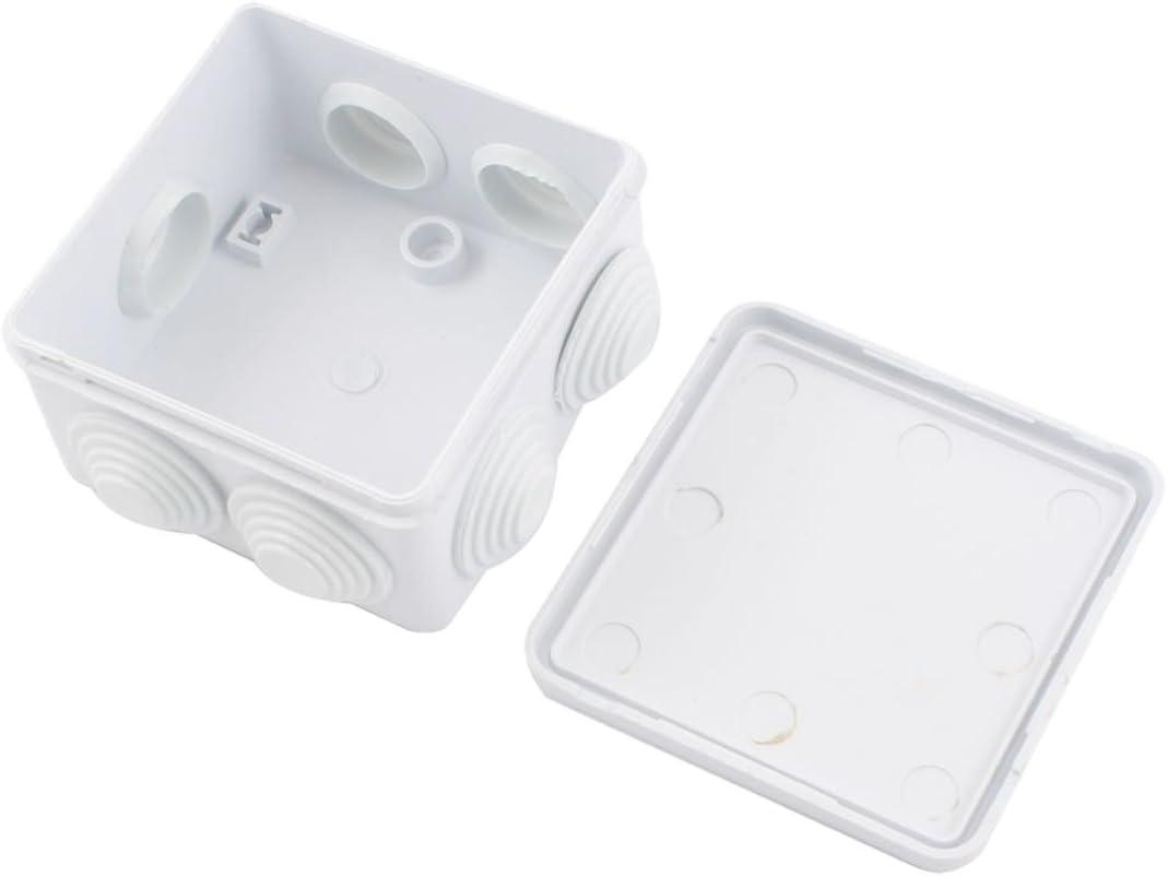 REFURBISHHOUSE ABS Impermeable IP55 Boite de jonction Carree 85x85x50mm
