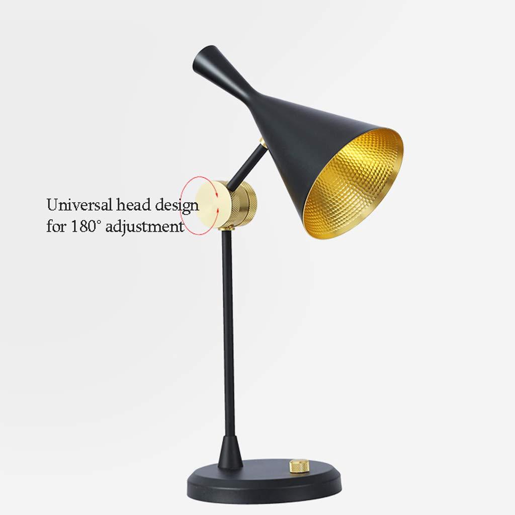 Américaine Minimaliste Lampe De De De Table Moderne Chambre Modèle Chambre Rétro Lampe De Lecture Personnalité D'éclairage De Nuit (Farbe   Gold) B07MW25JDJ | Ab dem neuesten Modell  013373