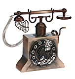 DecoBREEZE Table Fan Single Speed Electric Circulating Figurine Fan, 4 in, Crank Phone