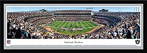 Oakland Raiders - 50 Yard - Blakeway Panoramas NFL Posters with Select Frame (The Dazzle Picture Frames)