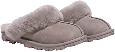Kirkland Signature Women/'s Shearling Slippers In Black Size 5