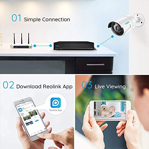 Reolink 8ch Poe Nvr Work With Reolink 8mp 5mp 4mp Hd