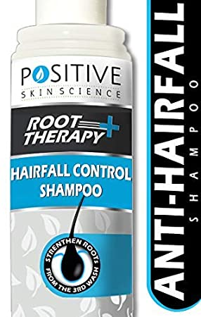 POSITIVE Root therapy + Hair fall Control Shampoo | Strengthen Roots from 3rd Wash | Enriched with Biotin, Keratin & Collagen Boosters