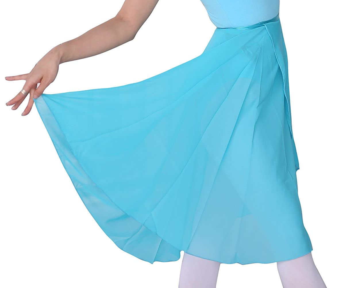woosun Adult Ladies Ballet Leotard Tutu Skirt Women Dance Wrap Over Scarf 60cm Length Skirt Chiffon