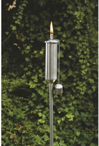 Acero inoxidable Antorcha/antorcha de jardín con cierre de seguridad, 120 cm, para aceite: Amazon.es: Jardín