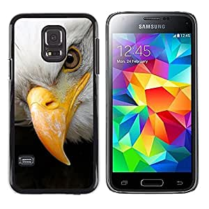 Libertad americana Símbolo del águila calva- Metal de aluminio y de plástico duro Caja del teléfono - Negro - Samsung Galaxy S5 Mini (Not S5), SM-G800
