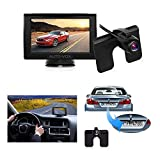 """car kit rear view camera - Auto-Vox M1 4.3"""" TFT LCD Backup Camera Kit Parking Assistance System with Night Vision, Easy Installation HD Rear View Back Up Monitor Waterproof License Plate Reverse Camera For Trucks,Ford,Toyota"""
