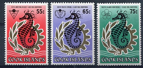Cook Islands Stamps: Set of 3, 1985, Pacific Conference - Rarotonga, (Cook Islands Stamps)