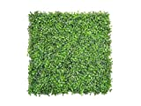 e-joy 12 Piece Artificial Topiary Hedge Plant Privacy Fence Screen Greenery Panels, Suitable For Both Outdoor/Indoor, Garden or Backyard And Home Decorations Boxwood, Light Green