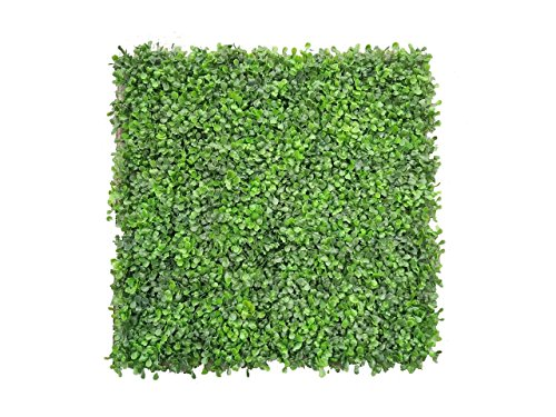 e-joy 12 Piece Artificial Topiary Hedge Plant Privacy Fence Screen Greenery Panels, Suitable For Both Outdoor/Indoor, Garden or Backyard And Home Decorations Boxwood, Light Green by e-joy
