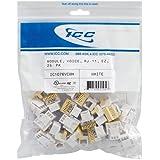 ICC IC1076VCWH Cat 3 EZ Modular Connector, White