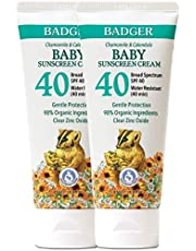 Badger - SPF 40 Baby Sunscreen Cream with Clear Zinc Oxide