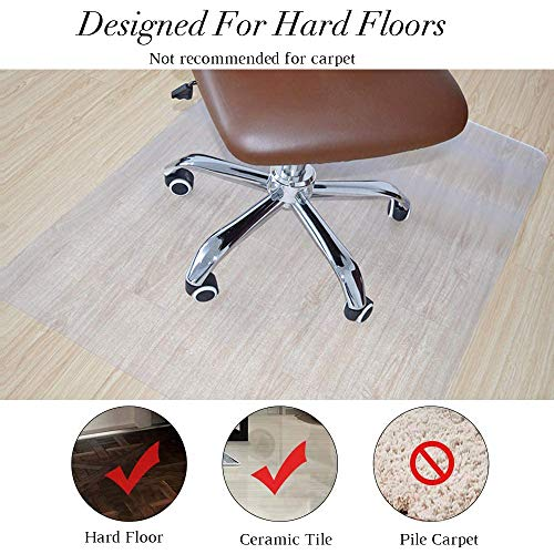 BigTron Office Desk Chair Mat for Hard Wood Floor PVC Matte, Transparent Sturdy Chair Mat, Only for Hardwood Floor, Immediately Flat Out of Box, 36\