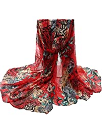 Winhurn Beautiful Fashion Voile Flower Long Size Women Scarf Wrap