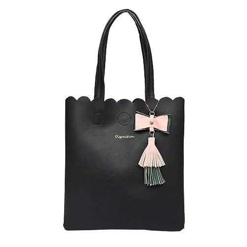 eb8d0e4fbc Women's Tassel Bag, Clearance!AgrinTo Fashion Leather Pure Color Bag  Shoulder Bag Handbag: Handbags: Amazon.com