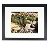 Studio Decor 11x14 Modern Black Picture Frame - Wide Molding - Wall Mounting Ready Mats to 8 x 10