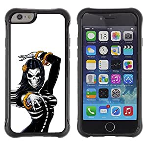 LASTONE PHONE CASE / Suave Silicona Caso Carcasa de Caucho Funda para Apple Iphone 6 PLUS 5.5 / Sexy Skull Woman Breast Skeleton