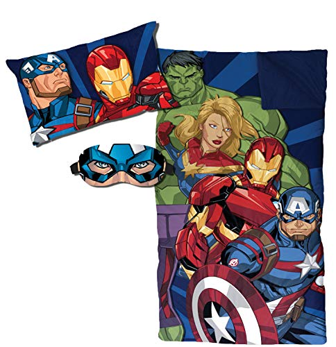 Jay Franco Marvel Avengers Stacked 3 Piece Slumber Set, Blue