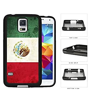 linJUN FENGMexico Flag Red Vertical Green and White Tricolour with National Coat of Arms Grunge Hard Rubber TPU Phone Case Cover Samsung Galaxy S5 I9600