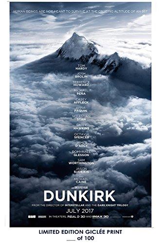 Rare Poster thick Dunkirk christopher nolan 2017 movie Teaser Reprint #'d/100!