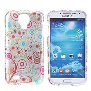 GONGXI-Círculo Caso duro del patrón de colores para Samsung i9500 Galaxy S4