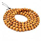 Buddha beads Sandalwood 8MM for Men Women 108 Buddhist Adjustable Bracelet Necklace Prayer Meditation