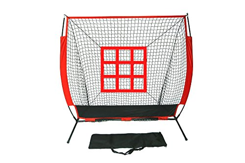 5' x 5' Baseball & Softball Practice Net with Strike Zone Hitting Target With Carry Bag by Trademark Innovations by Trademark Innovations