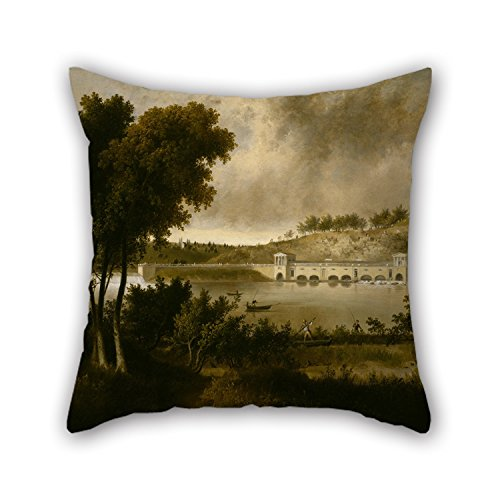 The Philadelphia Story Costumes (Slimmingpiggy Oil Painting Thomas Doughty - View Of The Fairmount Waterworks, Philadelphia, From The Opposite Side Of The Schuylkill River Throw Pillow Covers 18 X 18 Inches / 45 By 45 Cm Best Choi)