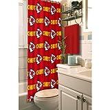Kansas City Chiefs Fabric Shower Curtain