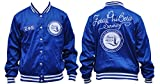 New! Ladies Zeta Phi Beta Metallic Blue Sorority Jacket Button Up Coat (2XL)