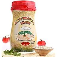 Har Bracha Tahini Paste (17.6 oz). 100% Natural, Vegan Friendly & Kosher Pure Ground Tahina Sauce. Raw Roasted Sesame Seeds for Oriental Dips, Salad Dressings & Hummus