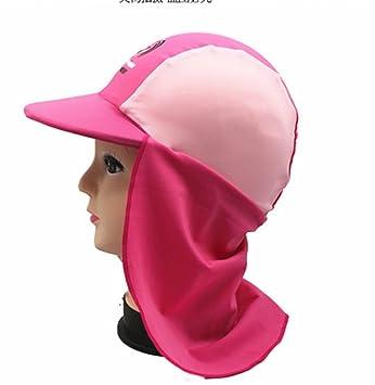 9e68b2aae Amazon | 子供用 ツバ付 UVカット スイムキャップ 男女兼用 日よけ帽子 ...