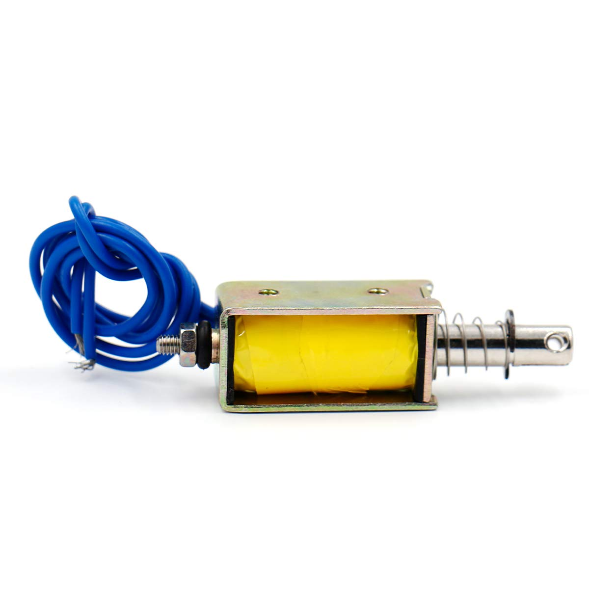 Baomain Push Pull Type Open Frame Solenoid Electromagnet XRN-0530T 10mm Stroke DC 6 V