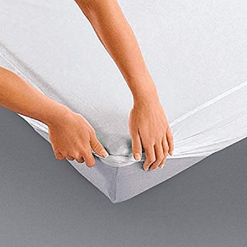 Alpes Blanc Coprimaterasso 100/% Cotone 200 gr//m2 Forma Coprimaterasso//Coprimaterasso Ampi Angoli in Puro Cotone 80/_x/_190/_cm