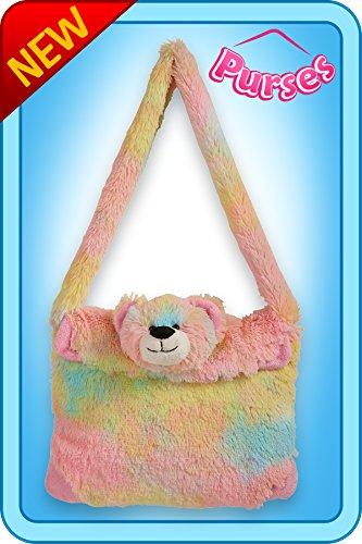 Pillow Pets Purse Rainbow Bear Toy Gift