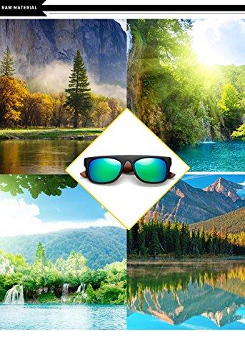La Marco E Hombres Los para del De para Madera 400 De De Ultravioleta Personalidad del Aviador A Gafas Mujer Sol Protección AOSpwvqF
