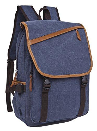 Travel Outdoor Computer Backpack Laptop bag big (darkblue) - 8