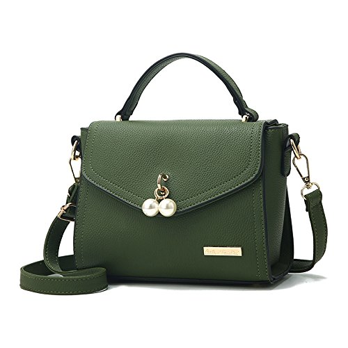 of Green Actualizada Upgraded Versión version Arroz Bolsa Bolsa Señorita Blanco Perla GUANGMING77 Pequeña Bolsa De Pearl 4qO7xYwUZw