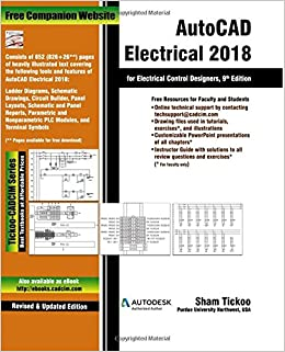 Autocad electrical 2018 for electrical control designers prof sham autocad electrical 2018 for electrical control designers prof sham tickoo purdue univ 9781640570085 amazon books asfbconference2016 Images